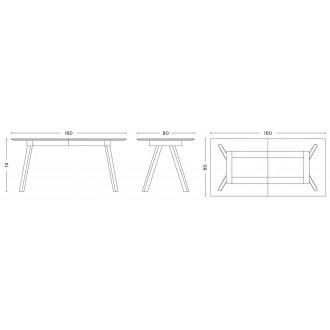 160-310 x 80 x 74cm - table...