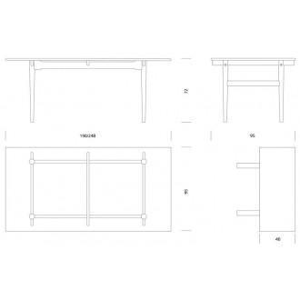 table CH327 248 x 95 cm