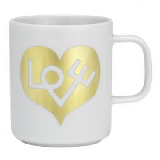 gold Love Heart - Coffee Mugs