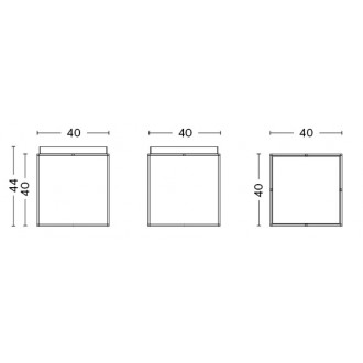 Tray table M - 40 x 40 x...