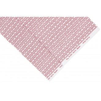 Coton - Blanc / Rouge - H55