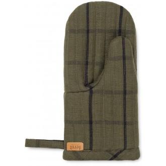 gant de four Hale vert / noir