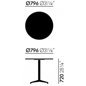 Ø79,6 x H74 cm - table Bistro