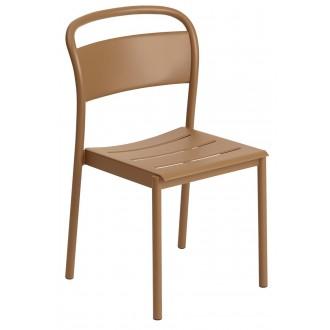 chaise orange brûlé -...