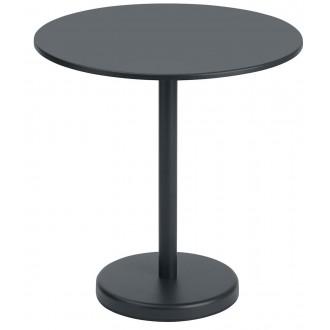 table Ø70 noir - Linear Steel