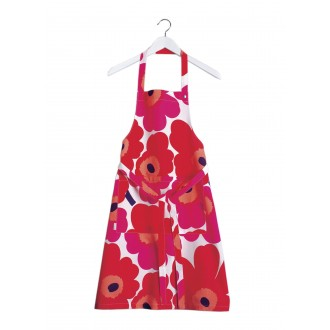 Unikko Apron - red, white