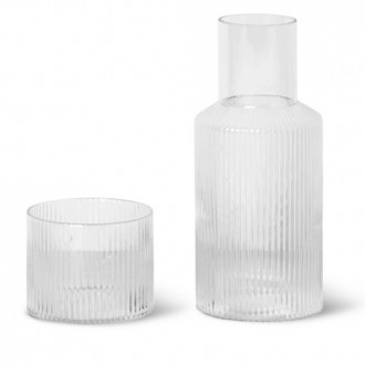 small clear carafe set -...