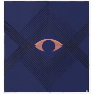 The Eye bedspread blue...