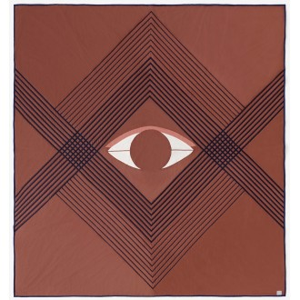 The Eye bedspread brown earth