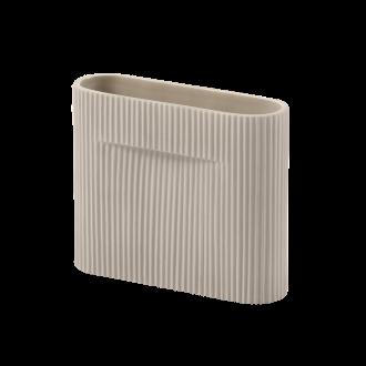 H16,5cm - beige - Ridge vase