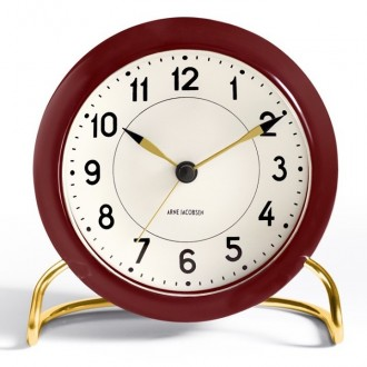 red AJ Station table clock...
