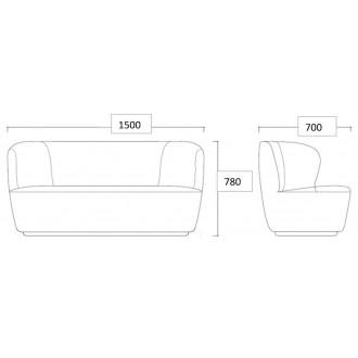 150xD70cm - Stay sofa