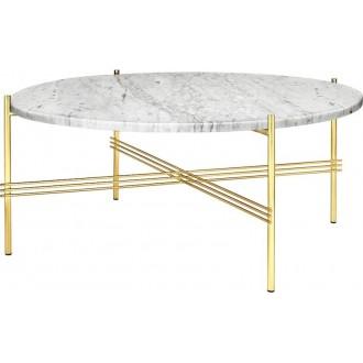 Ø80xH35cm - white marble -...