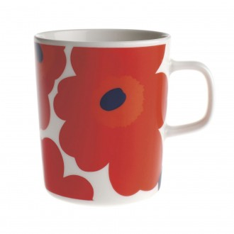 mug 2.5dl - red and white...