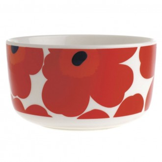 bowl 5dl - red and white...