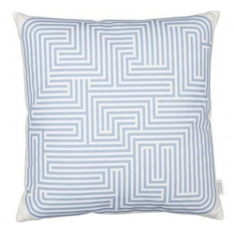 Maze Cushion - blue