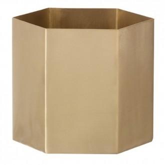 S - brass - Hexagon pot