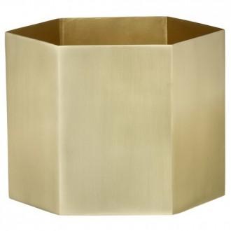 XL - brass - Hexagon pot