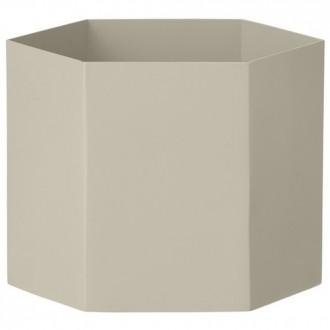 XL - light grey - Hexagon pot