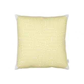Maze Cushion - mustard