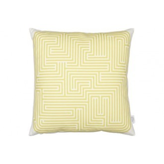 Coussin Maze - moutarde